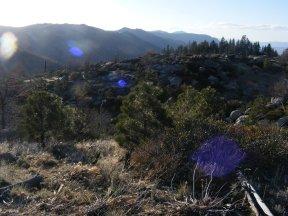 Eastern Sierras at sunset near Milford, California