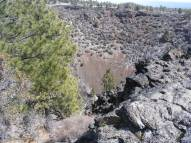 Looking into the Mammoth Crater at Lava Beds National Monument