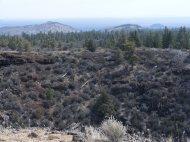 Numerous cinder cones dot the landscape about Lava Beds National Monument