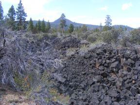 Lava dominated landscape along the Big Nasty Trail