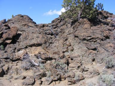 Heppe Chimneys, splatter cones, Lava Beds National Monument