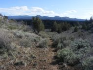 Whitney Butte Trail in Lava Beds National Monument