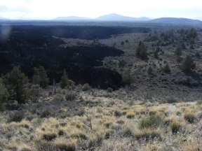 Numerous cinder cones and other buttes to the west of Whitney Butte