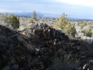 The view from Merrill Cave, Lava Beds National Monument