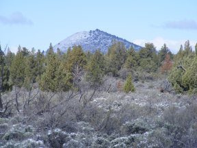 Schonchin Butte from the eastern boundary of Lava Beds National Monument