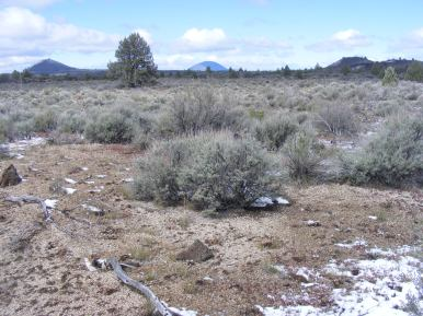 Buttes galore as seen from the Three Sisters Trail in Lava Beds National Monument
