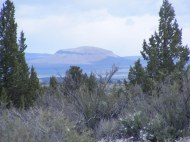 One of the buttes east of Lava Beds National Monument, perhaps Double Head Mountain?