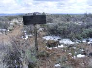 At the junction of the Lyons and Three Sisters Trail in Lava Beds National Monument