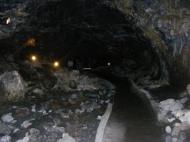 Mushpot Cave, lit by the Park Service