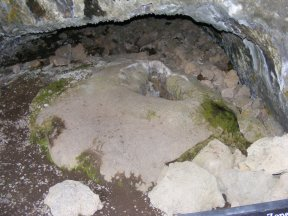The mushpot for which the cave is named, this acted like a relief valve from a lower tube that allowed lava to escape