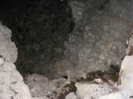 Flash illuminated cave interior, Lava Beds National Monument