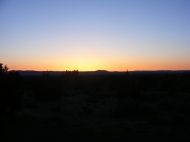 Sunrise over Lava Beds National Monument, Indian Well Campground