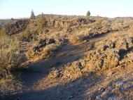 Mounds of lava at Fleener Chimneys, Lava Beds National Monument