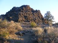 This inconspicuous mound of rock is one of the Fleener Chimneys, from which spewed forth molten lava