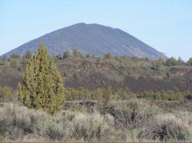 Lava beds and desert vegetation in Lava Beds National Monument
