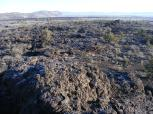 Looking over the Devil's Homestead Flow towards Gillem Bluffs from Black Crater in Lava Beds National Monument