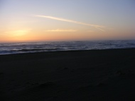 The surf crashes onto the beach as I watch in revered awe, Gold Bluffs Beach, Redwood National Park