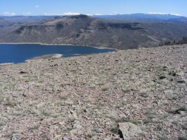 Blue Mesa Reservoir and Curecanti National Recreation Area below Dillon Mesa