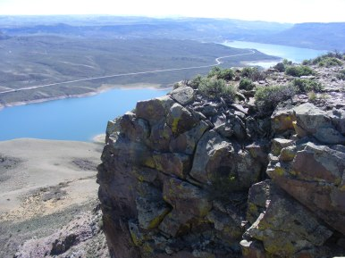 Land's end on the eastern lobe of Dillon Mesa, overlooking Blue Mesa Reservoir