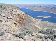 The escarpment rimming Dillon Mesa