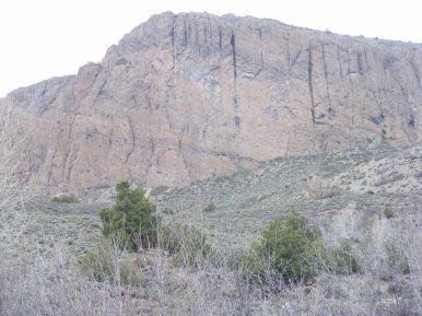 Huge wall of West Elk breccia