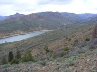 Above the West Elk Creek arm of Blue Mesa Reservoir, on my way to the pass leading to Dillon Pinnacles