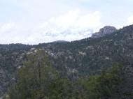 Snow clad Sangre de Cristo Mountains