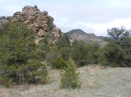 Ancient, even for geology, granite in Reese Gulch