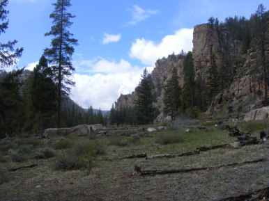 Taylor Canyon near Big Gulch, looking downstream from the north bank