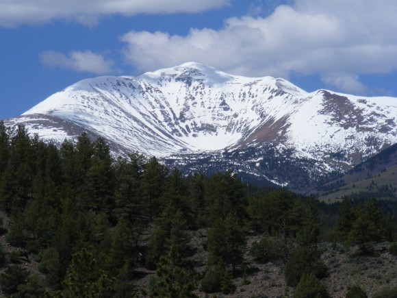 The Devil's Armchair on the east side of Mount Ouray
