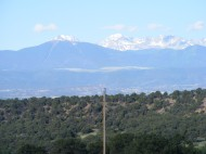 Slide Mountain with Mount Lindsey behind it; Sierra Blanca to the right