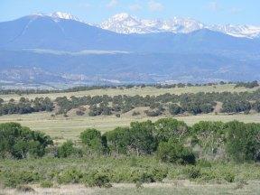 Sierra Blanca behind Slide and Green Mountains