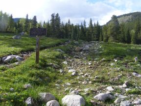 The trailhead to Mill Lake in the Fossil Ridge Wilderness