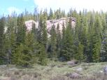 Rocky outcropping on Bear Creek