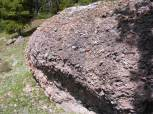 A boulder made from conglomerate on Bear Creek