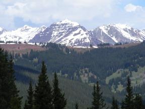 On Reno Ridge, looking at Teocalli Mountain in the Elk Mountains