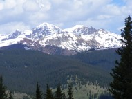 Plenty of snow in the high country of the Elk Mountains