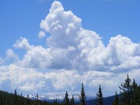 Towering clouds above Reno Ridge