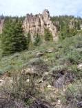 Cliff walls above Deadman Gulch