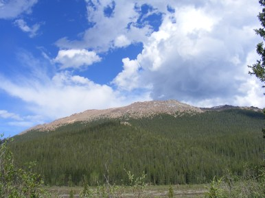 Gorgeous clouds over Bison Peak within the Lost Creek Wilderness