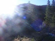Sun coming over Bison Peak in the Lost Creek Wilderness
