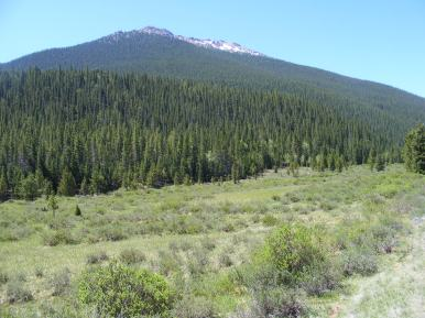 Ubiquitous view of the Lost Creek Wilderness near East Lost Park