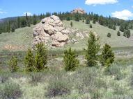 Weathered granite above Lost Creek in East Lost Park