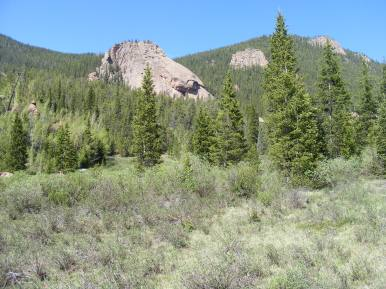 On the Lost Creek side of the pass from Wigwam Creek, Rocky Mountain granite