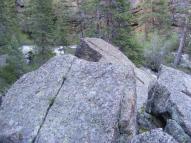 Plenty of granite to scramble around on near Lost Creek