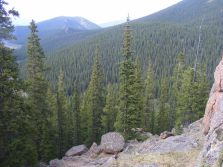 Looking north from the knoll west of Bison Pass