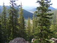 From the knoll west of Bison Pass, looking into the Indian Creek meadows