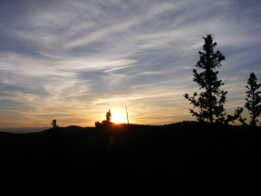 The fine end to another glorious day in the Lost Creek Wilderness