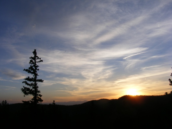 Sunset over Bison Pass