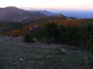 The Tarryall Mountains on the Summer solstice at dawn
